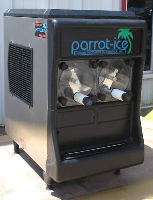 Used Parrot Ice Dual Hopper Frozen Drink Machine 2403