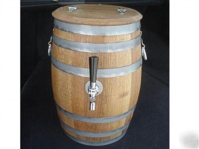 New Draft Keg Beer Cooler Oak Barrel Jockey Box